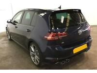 2016 BLUE VW GOLF R 2.0 TSI 300 DSG 4X4 PETROL 5DR HATCH CAR FINANCE FR £75 PW