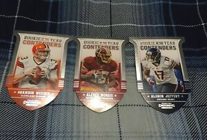 3 2012 Rookie of the Year Contenders Die Cut Cards