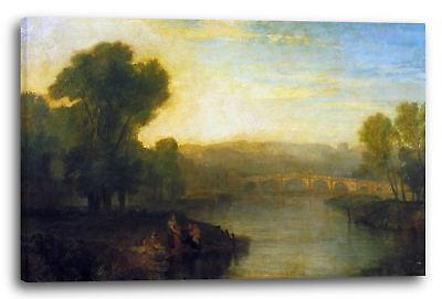 William Turner (Lein-Wand-Bild Kunstdruck: William Turner View of Richmond Hill and Bridge Expre)