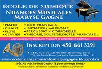 Offrez en cadeau des cours de musique! PIANO, CHANT, ÉVEIL, CLAV