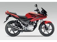 Honda CBF125, Red, Top box,