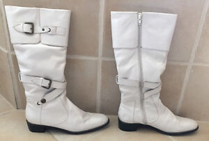 Austin Powers 60's GENUINE LEATHER White Knee-High Boots West Island Greater Montréal image 3