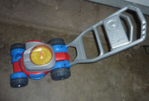 Outdoor toys (lawn mower, ride-on, toy wagon...) $ 3 - $ 10