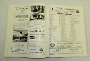 1905-1955 SASKATCHEWAN BUSINESS DIRECTORY GOLDEN JUBILEE Edition Regina Regina Area image 7