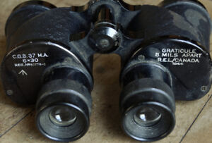 Vintage Binoculars - First Canadian Made by REI - WW II