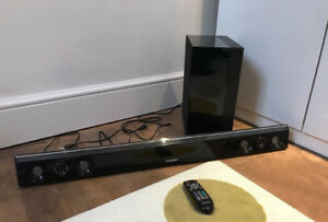Soundbar and subwoofer