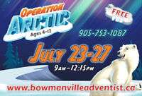 Operation ARCTIC VBS -July 23-27, 9am-12:15pm -FREE