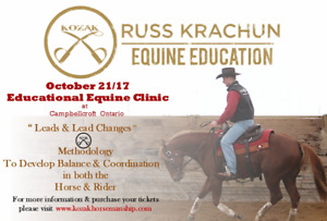 "Russ Krachun Kozak Horsemanship ""Leads & Lead Changes"" Clinic"