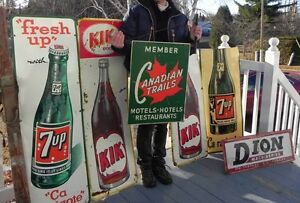 WANTED VINTAGE METAL ADVERTISNG SIGNS TINS COOLERS ECT ...