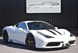 2014 Ferrari 458 4.5 V8 Speciale * Bianco + Racing Livery +Massive Spec + Carbon