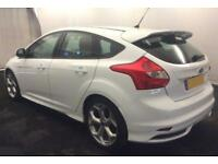 2013 WHITE FORD FOCUS 2.0 T ECOBOOST ST3 PETROL 5DR HATCH CAR FINANCE FR £41 PW