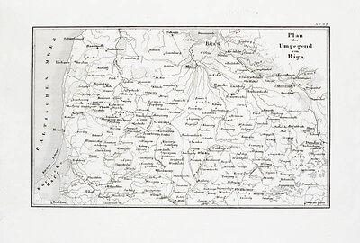 1857 Riga Lettland Litauen Baltikum Kupferstich-Landkarte