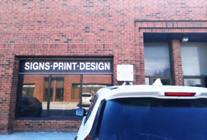 Successful Sign Print Graphic Design Shop in the middle of GTA