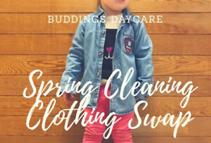 Buddings Daycare Spring Cleaning Clothing Swap!