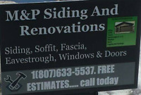 Siding soffit fascia eavestrough windows doors eavestrough