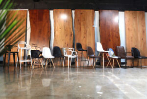 Restaurant chairs, Restaurant bar stools, Live Edge Wood tables