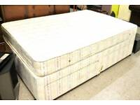 Double Divan Bed and Mattress - Can Deliver For £19