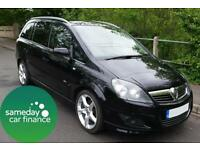 £128.04 PER MONTH BLACK 2008 VAUXHALL ZAFIRA 1.9 CDTI SRI DIESEL MANUAL