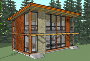1028 Sq.Ft. Contemporary Timber Frame Cabin Blowout Sale!!