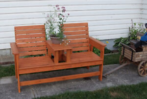 Rustic Double Park Bench - New