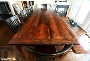 Reclaimed Wood Tables - Locally Created Cambridge Kitchener Area image 8