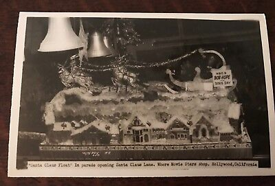 1950 Hollywood CA Christmas Parade Santa Claus Lane Bob Hope Float RPPC Postcard](Christmas Parade Floats)