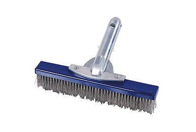 Piscina Cepillo de Con Acero Inox Cerdas Y Mango Estrecho/Cepillo Limpieza