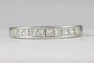 14k White Gold diamond band(10 diamonds,0.50ct tdw)#1914