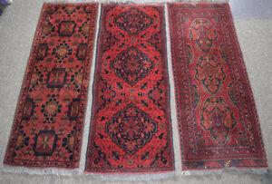 Three High Grade Afghan Wool Runners / Rugs
