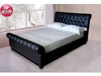 Super king size black Faux bed frame