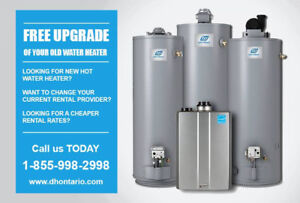 Hot Water Heater Upgrade –Worry – FREE Rental Program