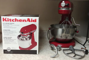 Kitchen Aid mixer (bowl lift model) and new Ice Cream maker.