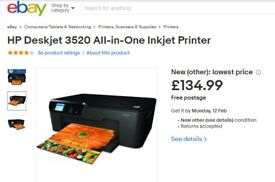 HP Deskjet 3520 All-in-One Inkjet Printer