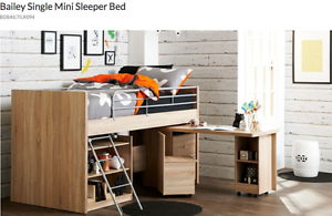 Bunk bed & desk Clontarf Redcliffe Area Preview