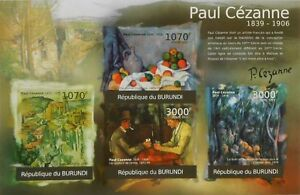 Paul Cezanne paintings m/s Burundi Sc.1032 MNH #BUR12106a IMPERF - <span itemprop='availableAtOrFrom'>Olsztyn, Polska</span> - Paul Cezanne paintings m/s Burundi Sc.1032 MNH #BUR12106a IMPERF - Olsztyn, Polska