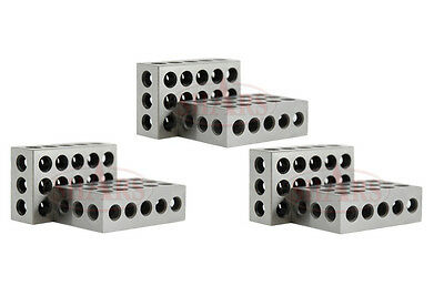 3 Matched Pairs 6 Pcs Precision 123 1-2-3 Blocks Block 23 Holes .0002 New A