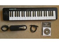 Alesis Q49 USB/MIDI Keyboard Controller with Yamaha Sustain Pedal