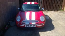 1.6 mini cooper one , 2002 (52) plate, 100k miles on clock , suspected clutch, driveshaft, cv failer