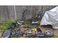 PEUGEOT SPEEDFIGHT 50CC SCOOTER V REG NO TAX NO M.O.T NON RUNNER SPARES REPAIRS/PROJECT