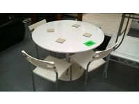 white dining table and chairs for 65 pounds bargain