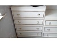 large white chest of drawers - free delivery
