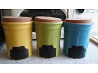 3 x Kitchen storage jars