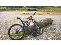 Medium frame all mountain bike , fox , rockshoc , hope , shimano , Easton heaven
