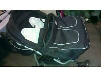 Mikado twins/double pushchair 4 in 1 with car seats and extras suitable from new born