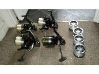 DAIWA EMCAST REELS X4 WITH SPARE SPOOLS