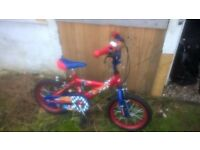 Toddlers bike . Red and Blue.