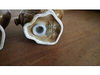 Beswick Haggis bird 3x whisky decanters
