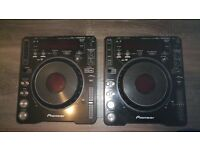 Pioneer CDJ 1000's MK3, Leads, Deck Savers and CD's