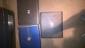 8 Laptops, spares or repairs
