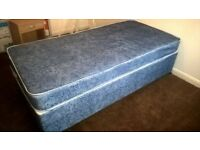 Single Divan bed including mattress & duvet £60(NEVER BEEN USED)